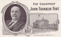 John Franklin Fort For New Jersey Governor Political Election Campaign, C1900s Vintage Postcard - People