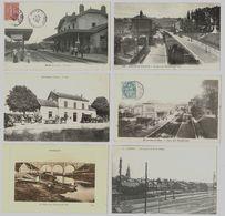 24 CP_Train(GRETZ_ BOULOGNE) Gares(BOULOGNE_ALBERT_MONTMIRAIL)+Inondation_Usine_ Rues Animées Ou Non Etc..N°27 - Cartes Postales