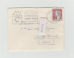 LSC 1963 - Cachet AMIENS (Somme) Et Flamme Philatec  Sur Mignonette - Marcophilie (Lettres)