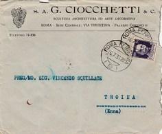 7657.   S.a. G. Ciocchetti & C. -  Scultura Architettura Ed Arte Decorativa Per Troina 1936 - 1900-44 Vittorio Emanuele III