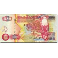 Billet, Zambie, 50 Kwacha, 1992-1996, 2007, KM:37f, NEUF - Zambie