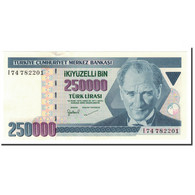 Billet, Turquie, 250,000 Lira, L.1970, 1998, KM:211, NEUF - Turquie