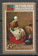 Rwanda 1973. Scott #525 (MNH) Painting, Woman Peeling Turnips, By Chardin * - 1970-79: Neufs