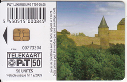LUXEMBOURG(chip) - Le Chateau De Bourscheid(TT 04), 05/05, Used - Luxembourg