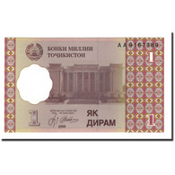 Billet, Tajikistan, 1 Diram, 1999 (2000), KM:10a, NEUF - Tadjikistan
