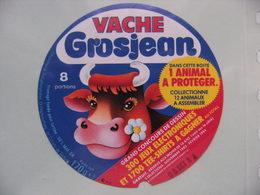 Etiquette Fromage Fondu - Vache Grosjean - 8 Portions Pub Jeux Animal à Protéger -  A Voir ! - Fromage