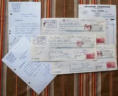 LOT De 6 Papiers 54 REHON GRENETIER Veterinaire, GORINI Frigoriste - France
