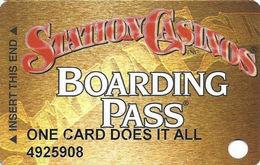Station Casinos Las Vegas, NV - Slot Card Copyright 2000 - 5 Logos - ONE CARD DOES IT ALL - Casino Cards