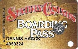 Station Casinos Las Vegas, NV - Slot Card Copyright 2000 - 5 Logos - Round 55+ Sticker - Casino Cards