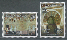 Maroc YT N°750/751 Mosquée Ibn-Zaidoun Neuf ** - Marokko (1956-...)