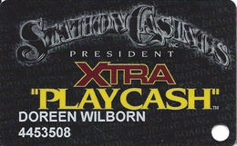 Station Casinos Las Vegas, NV - Slot Card Copyright 2001 - President Xtra Play Cash - Casino Cards