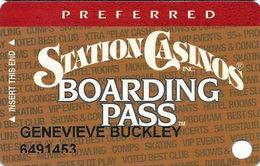 Station Casinos Las Vegas, NV - Slot Card Copyright 2003 - Preferred Board Pass - Casino Cards