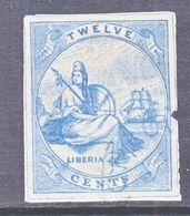 LIBERIA  8a  IMPERF.   Fault  (o) - Liberia