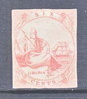 LIBERIA  13   THIN  PAPER  Fault  Filler    (o)  No  Frameline - Liberia