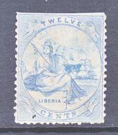 LIBERIA  14   Fault  Filler    (o) - Liberia