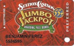 Station Casinos Las Vegas, NV - Slot Card Copyright 2004 - Preferred Jumbo Jackpot 55+ - Casino Cards