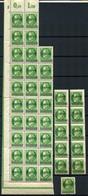 40496) SAAR - Lot Bogenteile Postfrisch Aus 1920 - 1920-35 Société Des Nations