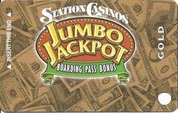 Station Casinos Las Vegas, NV - Slot Card Copyright 2004 - Gold Jumbo Jackpot BLANK - Casino Cards