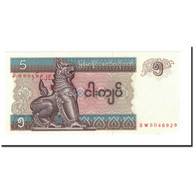 Billet, Myanmar, 5 Kyats, 1996, Undated, KM:70a, NEUF - Myanmar