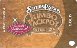 Station Casinos Las Vegas, NV - Slot Card Copyright 2005 - Gold Centennial BLANK - Casino Cards