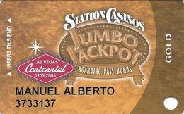 Station Casinos Las Vegas, NV - Slot Card Copyright 2005 - Gold Centennial - Casino Cards