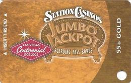 Station Casinos Las Vegas, NV - Slot Card Copyright 2005 - Gold Centennial 55+ BLANK - Casino Cards