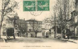 "/ CPA FRANCE 13 ""La Roque D'Anthéron, Place Badereau"" - France"