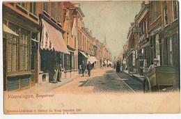 Vlaardingen, Hoogstraat, Animated, Undivided Back, Early 1900's - Vlaardingen