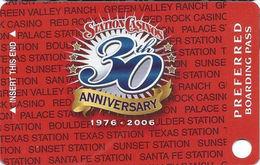 Station Casinos Las Vegas, NV - Slot Card Copyright 2006 - 30 Yr Anniv Preferred BLANK - Casino Cards