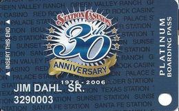 Station Casinos Las Vegas, NV - Slot Card Copyright 2006 - 30 Yr Anniv Platinum - Casino Cards