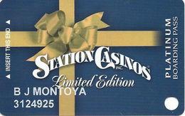 Station Casinos Las Vegas, NV - Slot Card Copyright 2006 - Lt Edition Platinum - Casino Cards