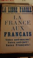 La Libre Parole ,le Porc- épic (hebdomadaire) ,7eme Année , 15avril  1936 ,n°9 - Politique