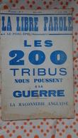 La Libre Parole ,le Porc- épic (hebdomadaire) ,7eme Année , 1 Er Avril  1936 ,n°7 - Politique