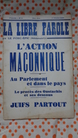 La Libre Parole ,le Porc- épic (hebdomadaire) ,7eme Année , 1 Er Février   1936 ,n°3 - Politique