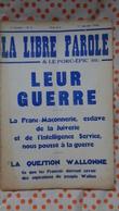 La Libre Parole ,le Porc- épic (hebdomadaire) ,7eme Année , 1er Janvier   1936 ,n°1 - Politique