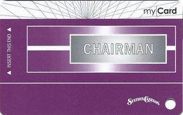 Station Casinos Las Vegas, NV - Slot Card Copyright 2008 - Chairman My Card / 8 Casinos Listed / BLANK - Casino Cards