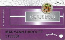 Station Casinos Las Vegas, NV - Slot Card Copyright 2008 - Chairman My Card / 8 Casinos Listed / 50+ - Casino Cards