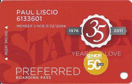 Station Casinos Las Vegas, NV - Slot Card Copyright 2011 - Preferred / Small Space Under Logos / 50+ - Casino Cards