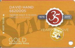 Station Casinos Las Vegas, NV - Slot Card Copyright 2011 - Gold / Small Space Under Logos / 50+ - Casino Cards