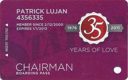 Station Casinos Las Vegas, NV - Slot Card Copyright 2011 - Chairman / Large Space Under Logos - Casino Cards