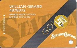 Station Casinos Las Vegas, NV - Slot Card Copyright 2012 - Gold / 50+ Senior - Casino Cards