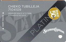 Station Casinos Las Vegas, NV - Slot Card Copyright 2012 - Platinum / 50+ Senior - Casino Cards
