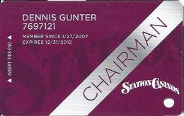 Station Casinos Las Vegas, NV - Slot Card Copyright 2012 - Chairman - Casino Cards