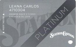 Station Casinos Las Vegas, NV - Slot Card Copyright 2013 - Platinum - Casino Cards