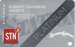 Station Casinos Las Vegas, NV - Slot Card Copyright 2014 - Platinum - Casino Cards