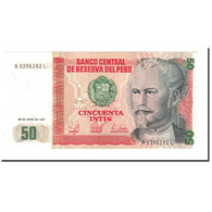 Billet, Pérou, 50 Intis, 1987, 1987-06-26, KM:131a, SPL - Peru