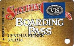 Station Casinos Las Vegas, NV - Slot Card Copyright 2000 - 4 Logos / Boulder Logo Over Info - Blue VI$ - Casino Cards