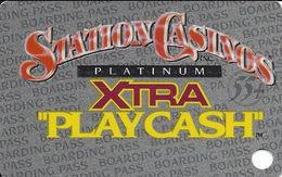 Station Casinos Las Vegas, NV - Slot Card Copyright 2001 - Platinum Xtra Play Cash 55+ BLANK - Casino Cards