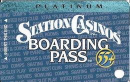 Station Casinos Las Vegas, NV - Slot Card Copyright 2002 - Platinum Board Pass 55+ BLANK - Casino Cards