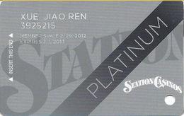 Station Casinos Las Vegas, NV - Slot Card Copyright 2012 - Platinum - Casino Cards
